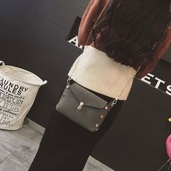 Rosanna Bags - Chain Strap Buttoned Crossbody Bag