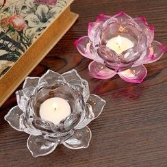 Thula Design - Glass Lotus Candle Holder