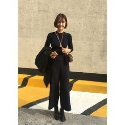 ssongbyssong - Flat-Front Dress Pants