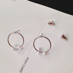 Ticoo - Crystal Hoop Earrings