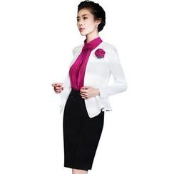 Aision - Blazer / Sleeveless Blouse / Pencil-Cut Skirt