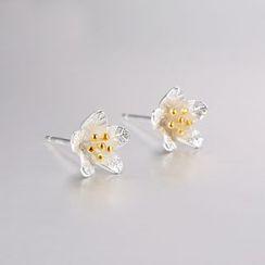 Zundiao - Sterling Silver Flower Studs