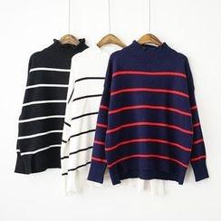 Polaris - 长款条纹毛衣