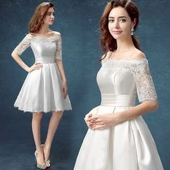 Nidine - Lace Bridesmaid Dress