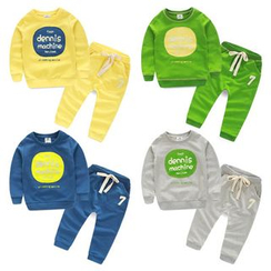 Seashells Kids - Kids Set: Lettering Pullover + Sweatpants