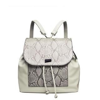 MBaoBao - Faux-Leather Snake-Print Backpack