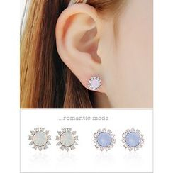 soo n soo - Rhinestone Earrings