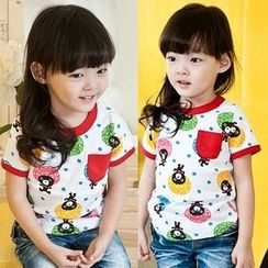 Seashells Kids - Kids Piped Printed Short-Sleeve T-shirt