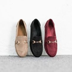 VIVIER - Metallic Faux-Suede Loafers