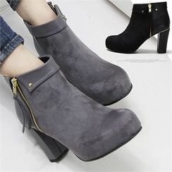 Reneve - High-Heel Zipped Ankle Boots