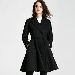 KAKO KARA - Plain Woolen Coatdress