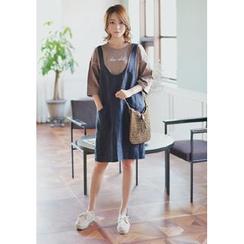 GOROKE - Linen Jumper Skirt