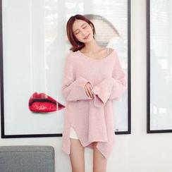 Cherryville - V-Neck Long Sweater