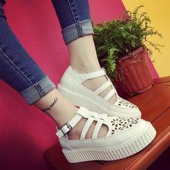 MISSEY - Perforated Platform Sandals