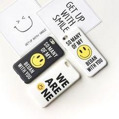 Casei Colour - 笑脸印花手机套 - 苹果 iPhone 6 / 6 Plus