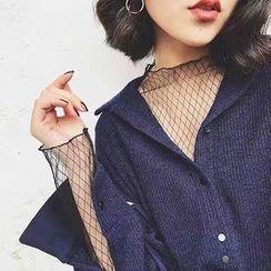 Cerauno - Mesh Long-Sleeve Top