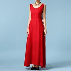 Rebecca - V-Neck Chiffon Evening Gown