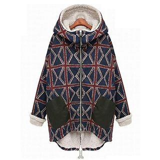 AGA - Pattern Hooded Zip Parka