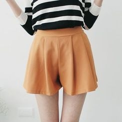 Tokyo Fashion - Pleated Plain Shorts