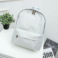 Crystal - Stripe Canvas Backpack