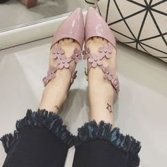 Crystella - Floral Pointed Flats