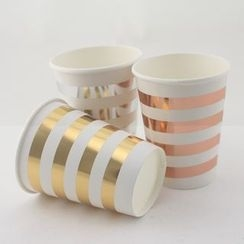 Palmy Parties - Striped Disposable Cups (8 pcs)