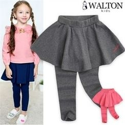 WALTON kids - Girls Inset Flare Skirt Leggings
