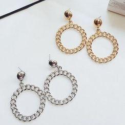 Ciroki - Chained Hoop Earrings