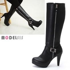 MODELSIS - Platform Zip-Up Long Boots