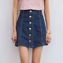 TREEZIN - Denim A-Line Skirt