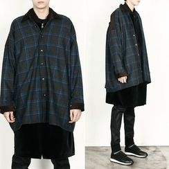 Remember Click - Wool-Blend Check Coat
