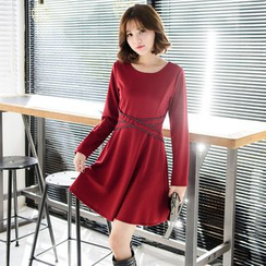 Tokyo Fashion - Long-Sleeve A-Line Dress