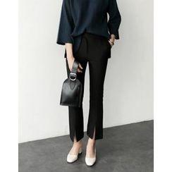 UPTOWNHOLIC - Slit-Front Dress Pants