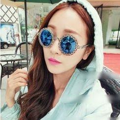 Sunny Eyewear - Perforated Round Sunglasses