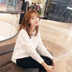 Styleberry - Long-Sleeve Pocket-Front Shirt
