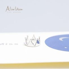 AINIAN - 925 Sterling Silver Crown Ring