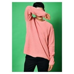 HOTBOOM - Wool Blend Rib-Knit Sweater