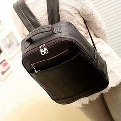 QeQ - Faux-Leather Backpack