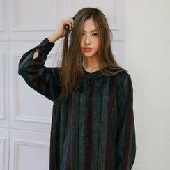 Vintage Vender - Stripe Wool Blend Shirtdress
