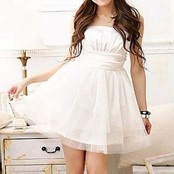 Holiday Lady - Strapless Mini Prom Dress