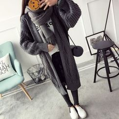 Qimi - Chunky Knit Long Cardigan
