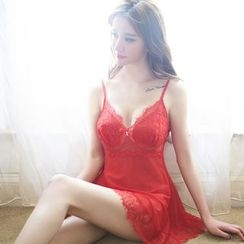 Sexy Palace - Set: Lace Nightdress + Thong