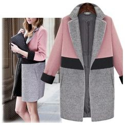 Coronini - Color Block Snap Button Coat