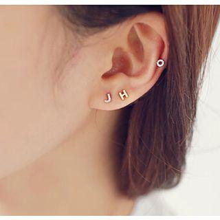 Love Generation - Tiny Rhinestone Alphabet Earrings