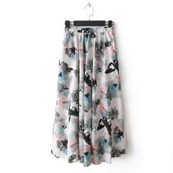 Flower Idea - Floral Maxi Skirt