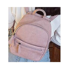 LMWZ - Mini Faux Leather Backpack