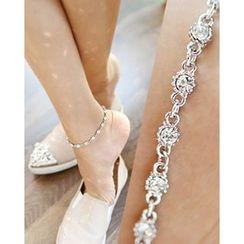 Miss21 Korea - Rhinestone Ankle Bracelet