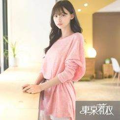 Tokyo Fashion - Batwing-Sleeve Knit Tunic with String