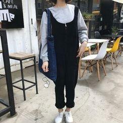 Eva Fashion - 灯芯绒吊带裙