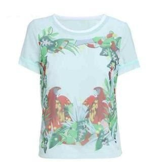 Flower Idea - Short-Sleeve Parrot-Print T-Shirt